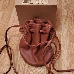 Vintage coach drawstring mini bag